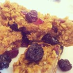 dairy free, egg free fruity oat fingers
