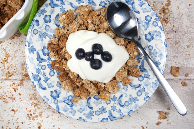 Banana and Coconut Granola by A Mummy Too