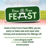 Getting ready for Allergy UK's Free From Feast