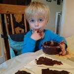 J making mini chocolate croissants #dairyfree #eggfree #nutfree