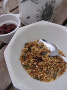 Homemade #nutfree #vegan granola