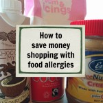 how to save money shopping with food allergies