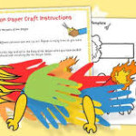 Twinkl craft ideas, handprint dragon