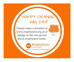 anaphyaxis campaign orange wig day