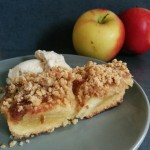 Caramel apple streusel bars (gluten free and dairy free)