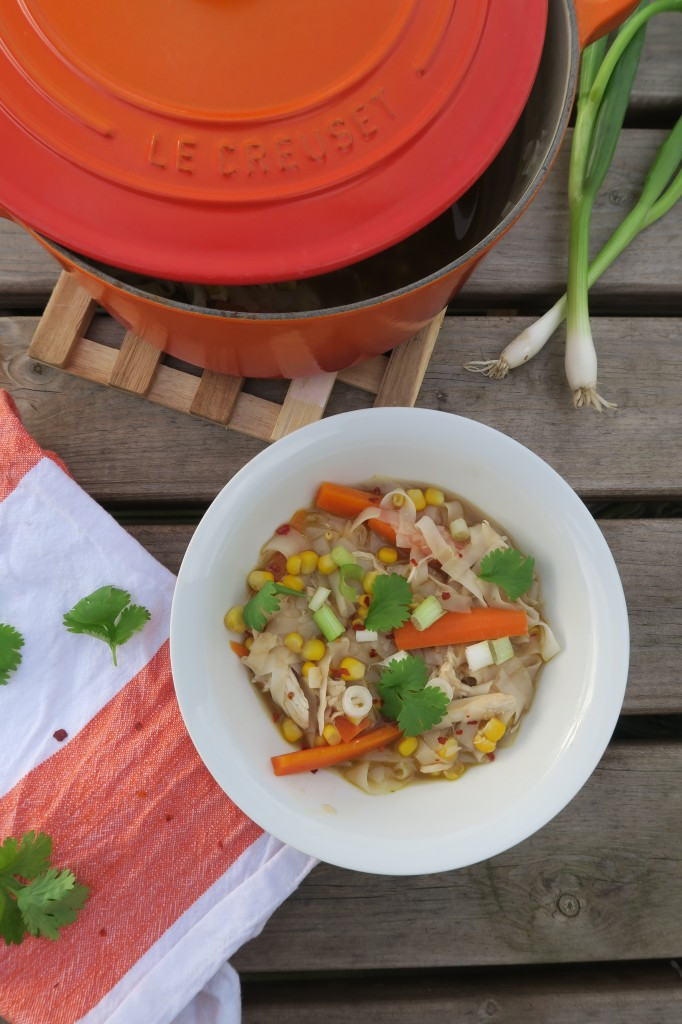 5 minute chicken noodle soup with instant egg free noodles