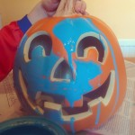 paint a pumpkin to join in with food allergy friendly teal pumpkin project this halloween