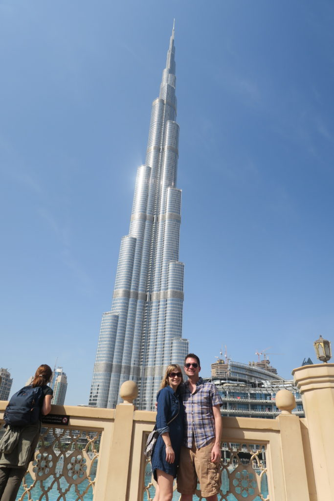 seeing the fountains at burj khalifa is great when visiting dubai on a budget