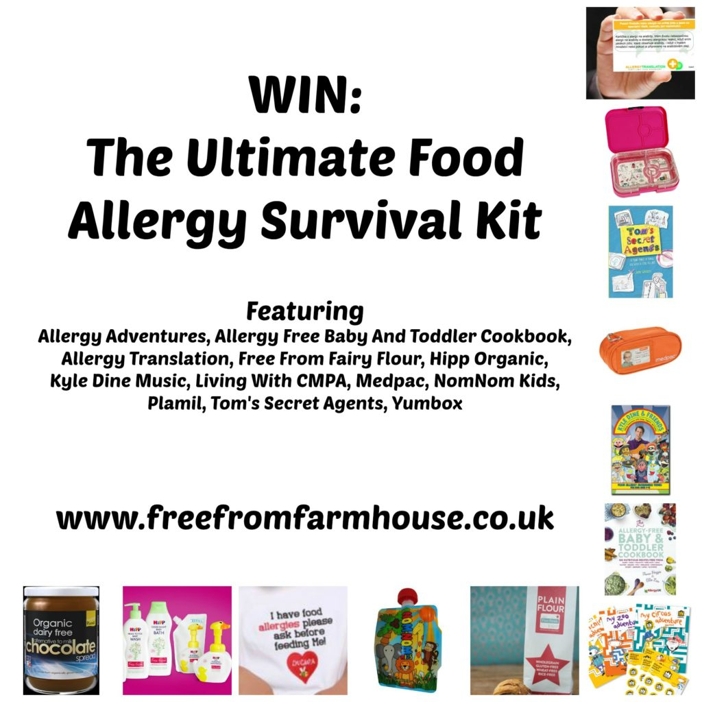 ood allergy giveaway featuring yumbox, nomonom, medpac, living with cmpa, allergy adventures, kyle dine, allergy mums, plamil, hip organic, allergy translation, tom's secret agents, free from fairy flour