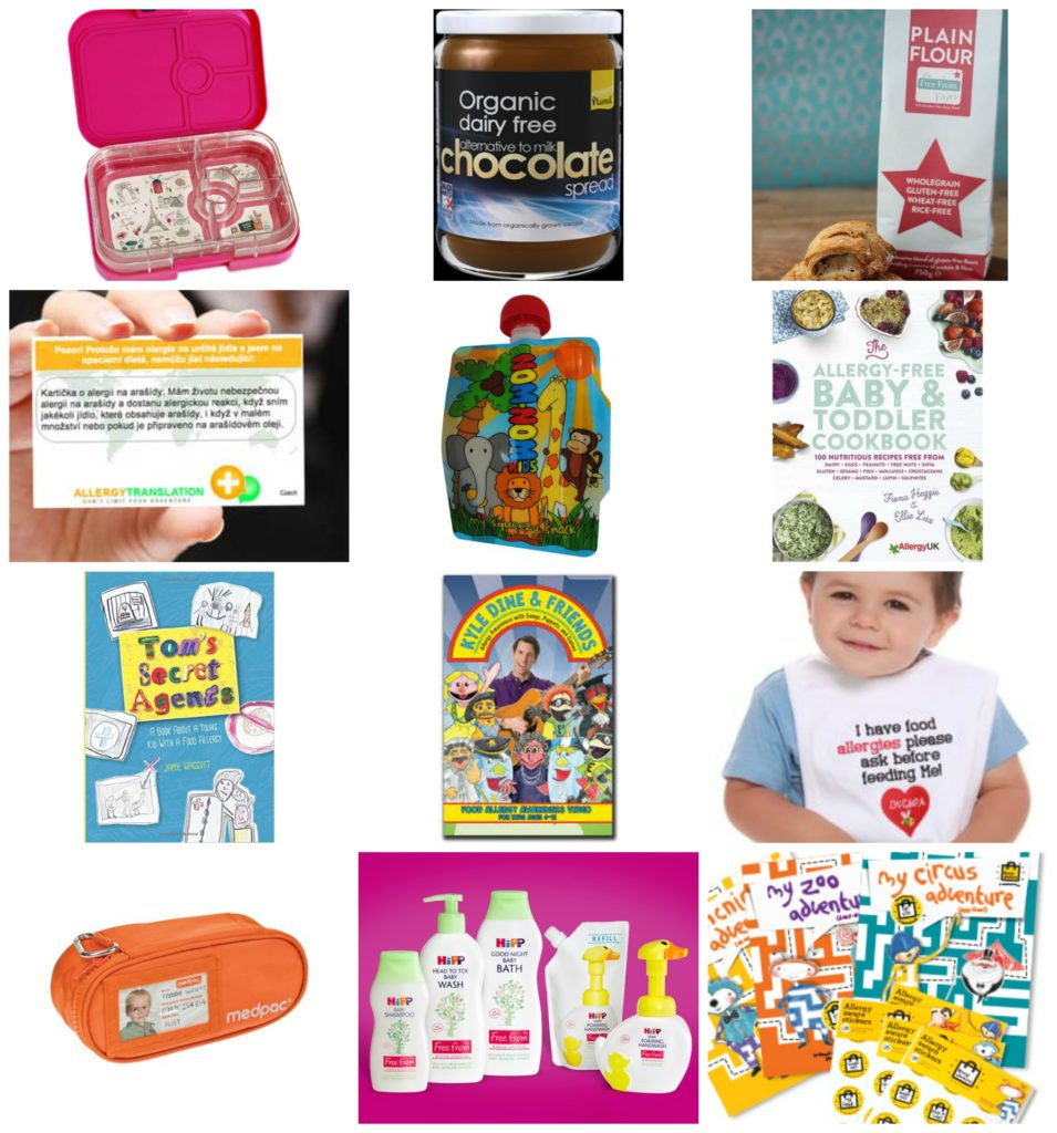 food allergy giveaway featuring yumbox, nomonom, medpac, living with cmpa, allergy adventures, kyle dine, allergy mums, plamil, hip organic, allergy translation, tom's secret agents, free from fairy flour