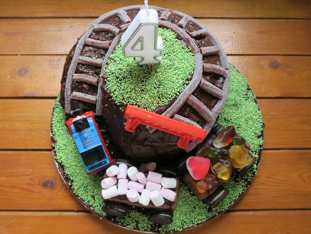 dairy and egg free thomas the tank engine train cake