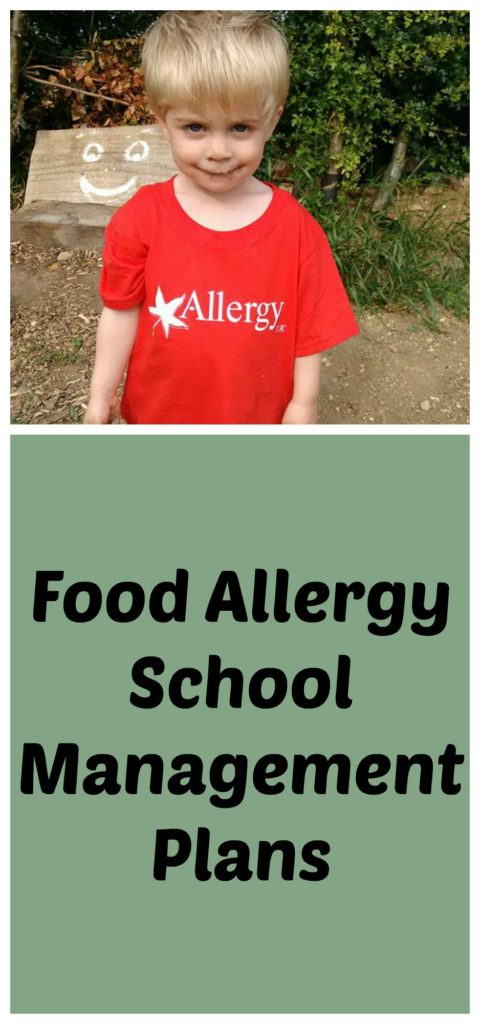 When your child is starting school with food allergies it can be scary, but creating a school allergy management plan will help keep them safe. #foodallergies #allergies #nutallergy #cmpa #allergymanagementplan