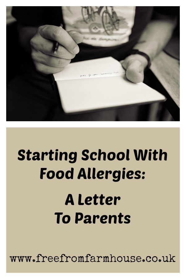 Food Allergies: Sending your child to school with food allergies can be scary. Here is a letter we wrote, along with out allergy management plan, to help keep our son safe. #foodallergy #foodallergies