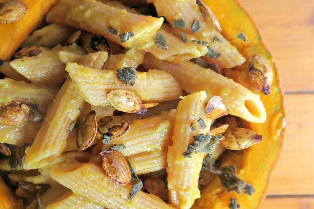 gluten free and vegan pumpkin pasta recipe