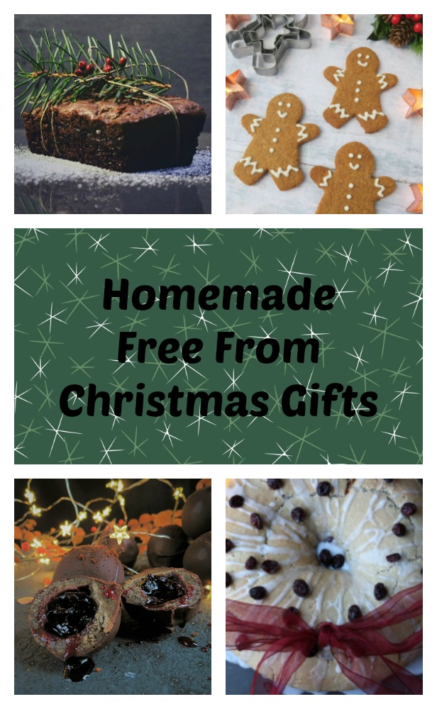 Thes homemade dairy free, vegan and gluten free Christmas gifts can be a thoughtful present and fun to make.  Try vegan gingerbread, paleo Christmas cake and gluten free bread.
