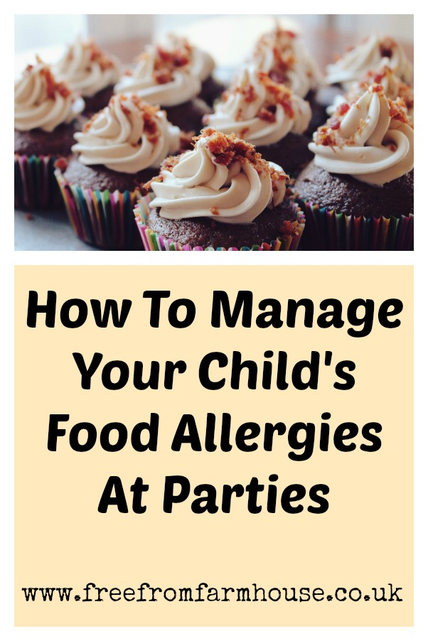 Food allergies at parties: How to manage your child's food allergies so they can be safe and included at parties. #foodallergy #foodallergies #milkallergy #nutallergy #cmpa