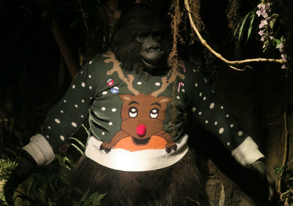 rainforest cafe grotto christmas gorilla