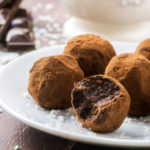 Vegan chocolate coconut truffles