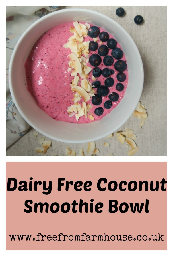 Dairy free coconut smoothie bowl - a delicious healthy breakfast | www.freefromfarmhouse.co.uk