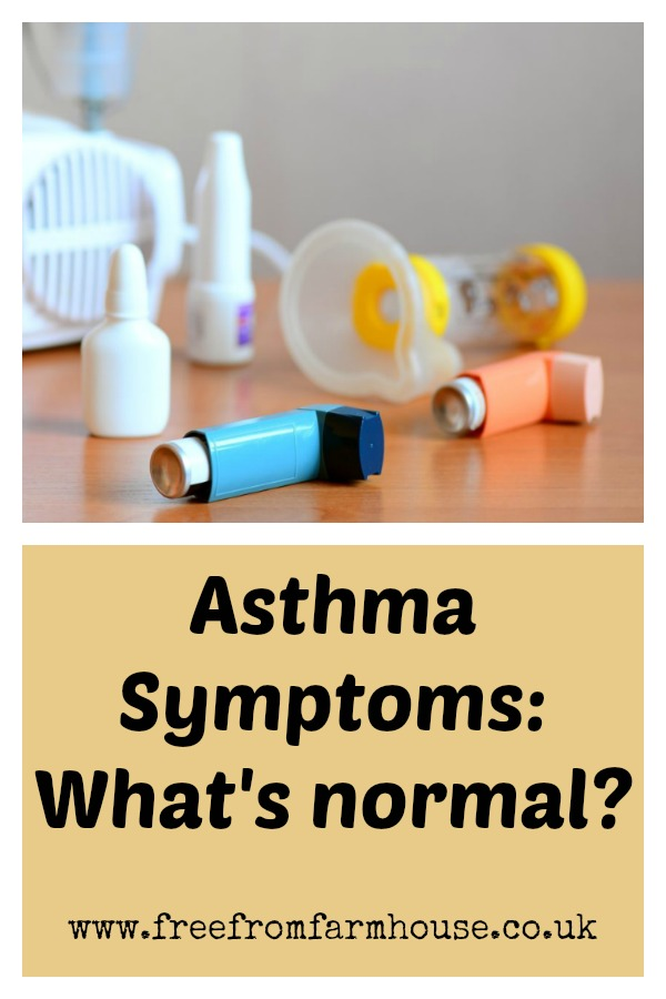 Asthma symptoms can be scary, sudden and unpredicatable. But what's normal? When should you worry about your asthma? When do your asthma symptoms mean it's time to see your doctor? #asthma #asthmasymptoms #childasthma